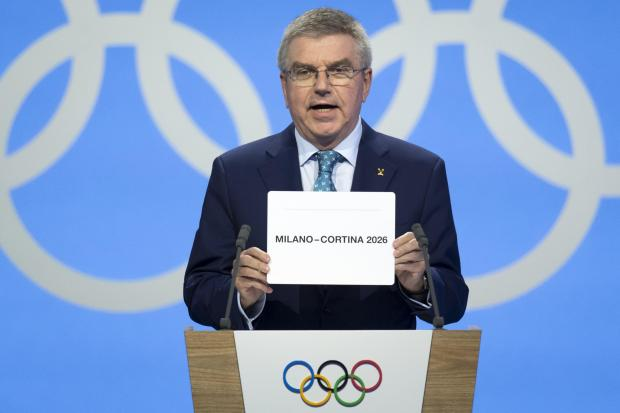 IOC president Thomas Bach announced the winner
