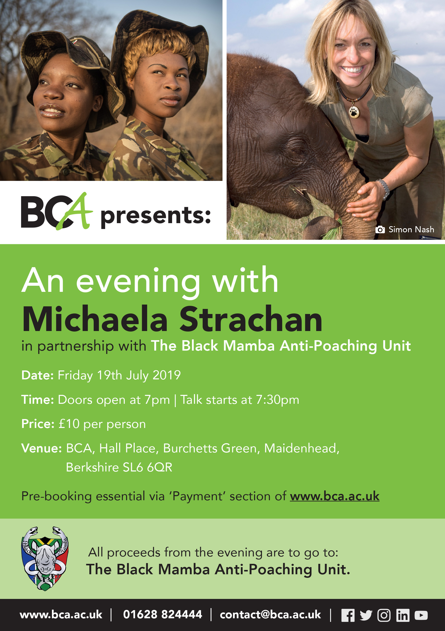 BCA Presents: An evening with Michaela Strachan