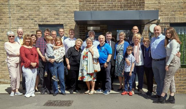 Families of Cllr Tippen and Jack and Barbara Elliott were joined by councillors at the naming ceremony