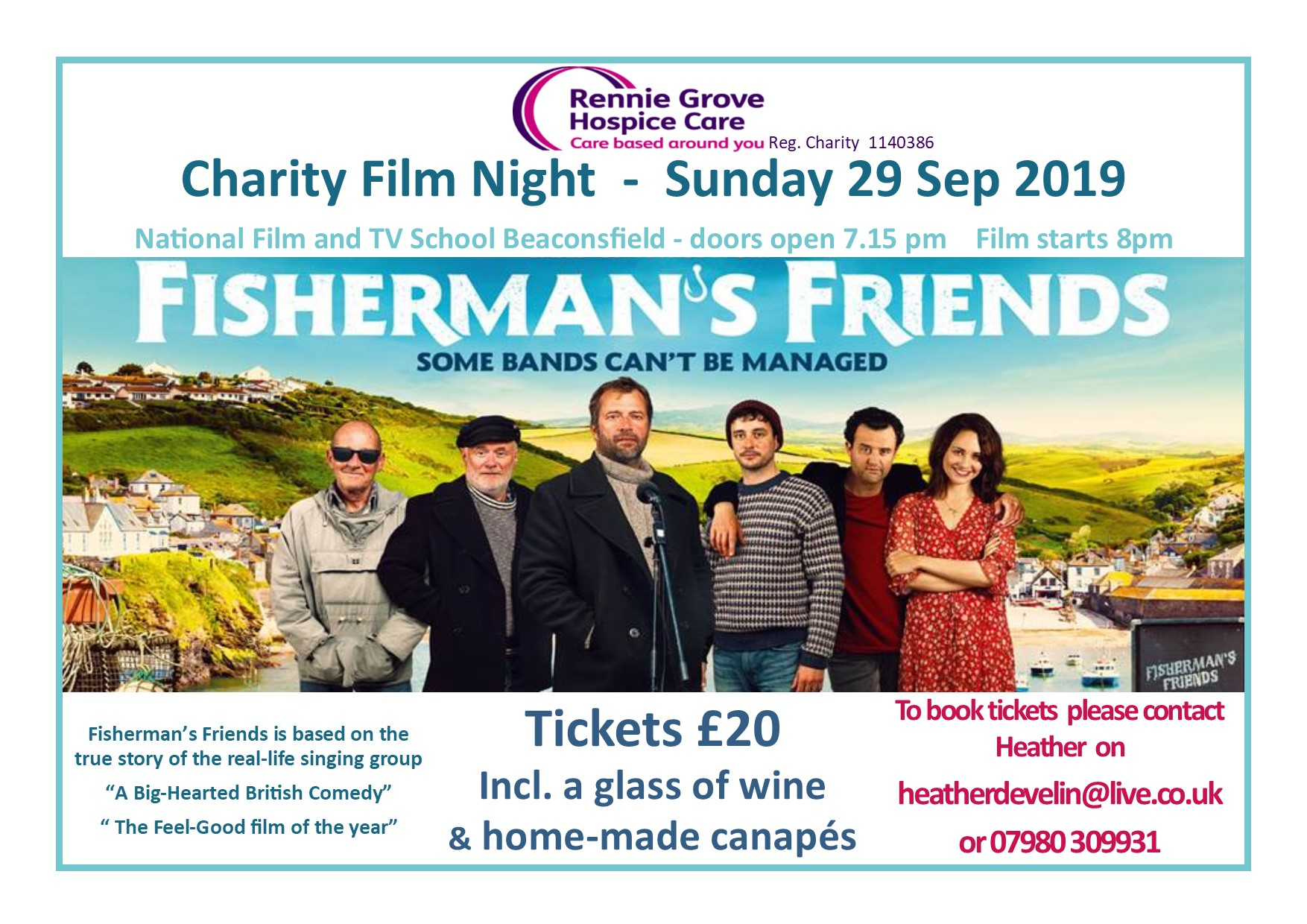 Charity Film Night in aid of Rennie Grove Hospice Care