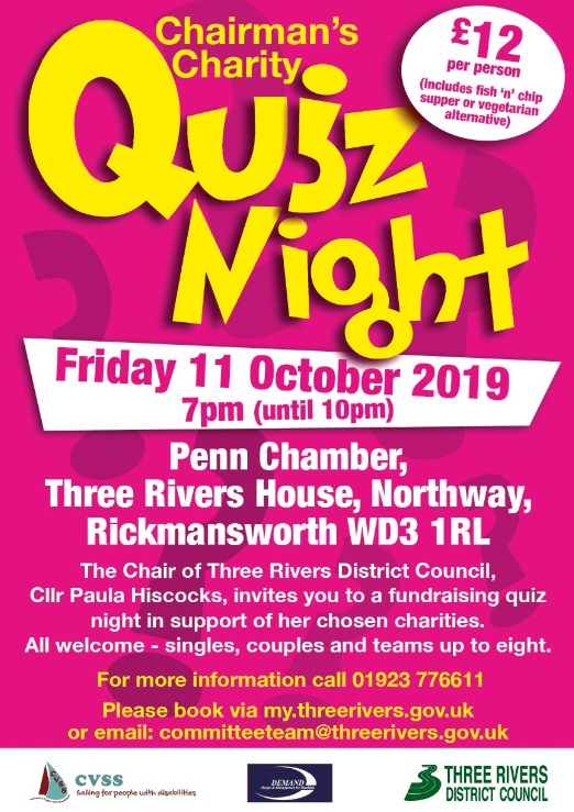 Chairman's Charity Quiz Night