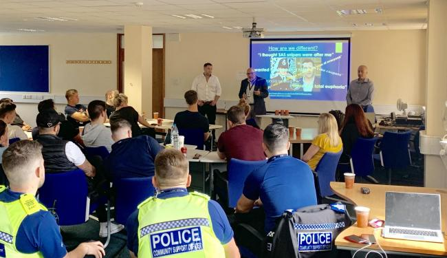 The workshops will help officers understand drug addiction and mental health Credit: Herts Constabulary