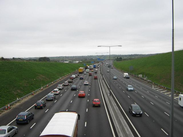 Some delays on the M25 this morning