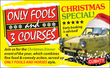 Only Fools and 3 Courses XMAS Special Dinner Evening H I East MK 01/11/2019