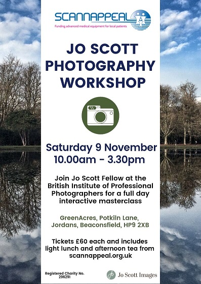 Jo Scott Photography Workshop in aid of Scannappeal