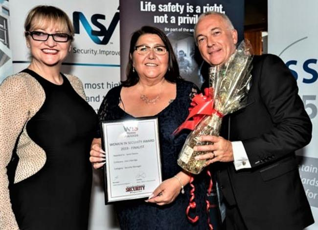 Awards night: Janet Owen receives her certificate