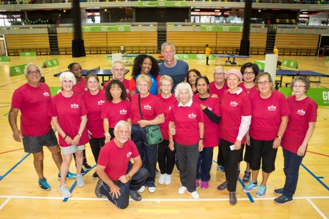 Fighting fit: the Hillingdon over-55s team at the Copper Box Arena