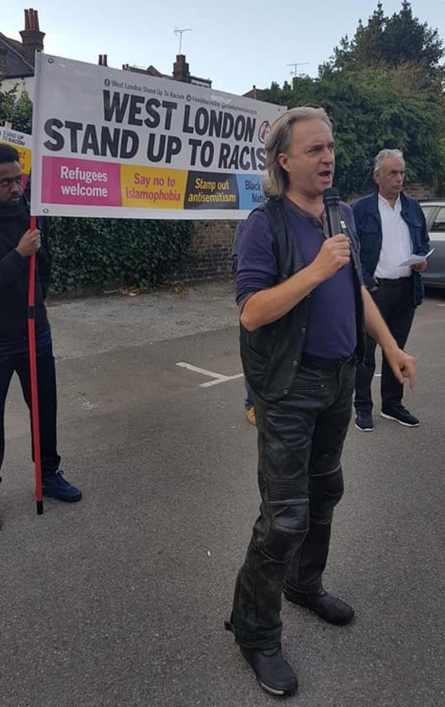 On the streets: the group has already held a protest outside North Ealing Tube station