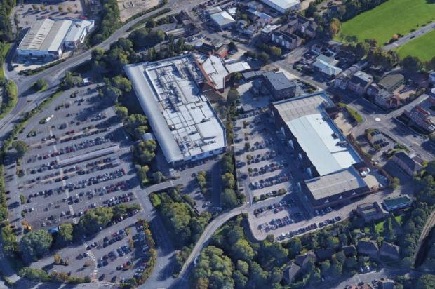 Part of the Waterfields shopping centre could be developed for housing, causing concern over lack of infrastructure. Photo: Google Maps