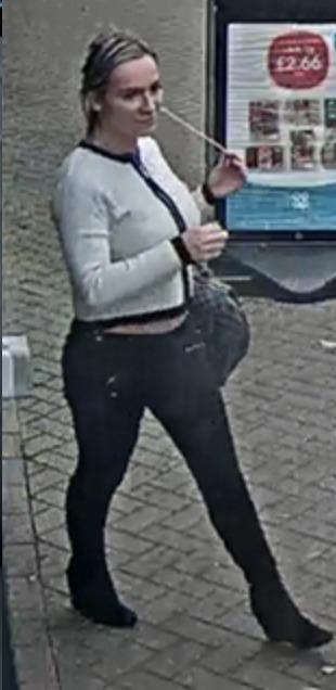 Police would like to speak to this woman to help with enquiries photo: Hertfordshire Constabulary