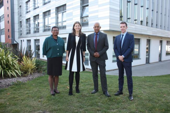 Education Minister Michelle Donelan (second left) praised Uxbridge College's