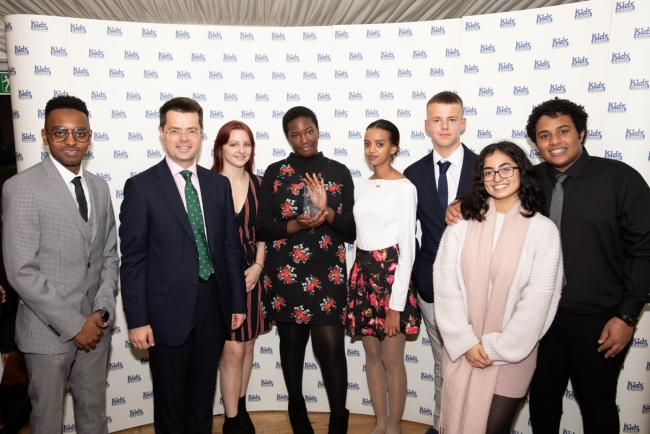 Stepping up: Hillingdon award winners with James Brokenshire
