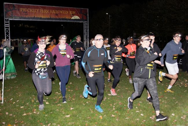 Ready, steady, ghoul: runners stride through Stockley Park's grounds