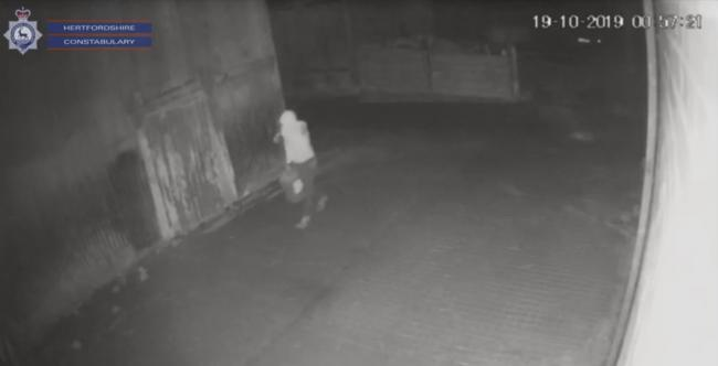 CCTV footage captured the theft of red diesel (Picture: Herts Constabulary)