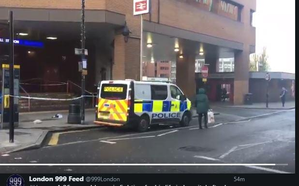 Police outside Harrow on the Hill station Photo credit London 999 Feed twitter