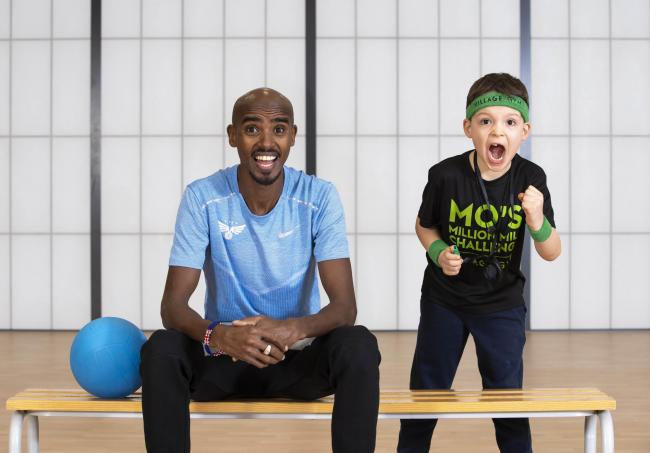 Mo Farah has launched the 'Million Mile Challenge'