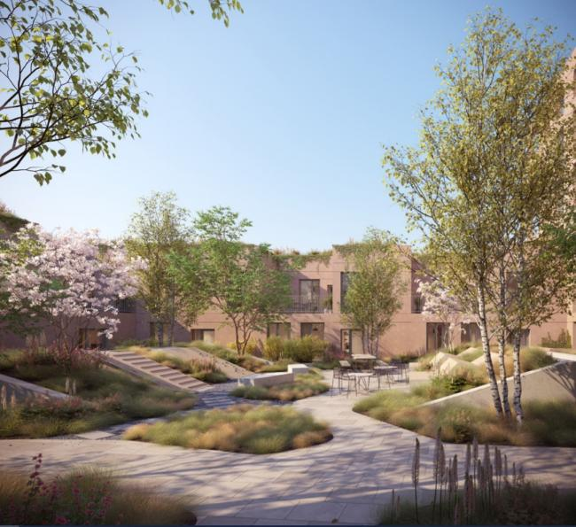 An artist's impression of Morland Gardens (Photo: Brent Council)