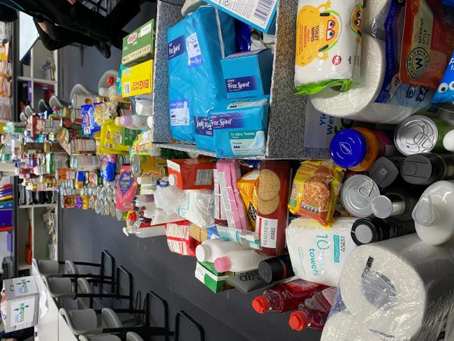 What a hoard: some of the items donated by Park Academy students