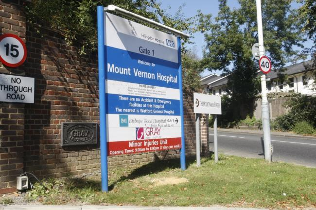 Anyone needing to contact Mount Vernon Cancer Centre is asked to wait later in the day (Photo: Simon Jacobs)
