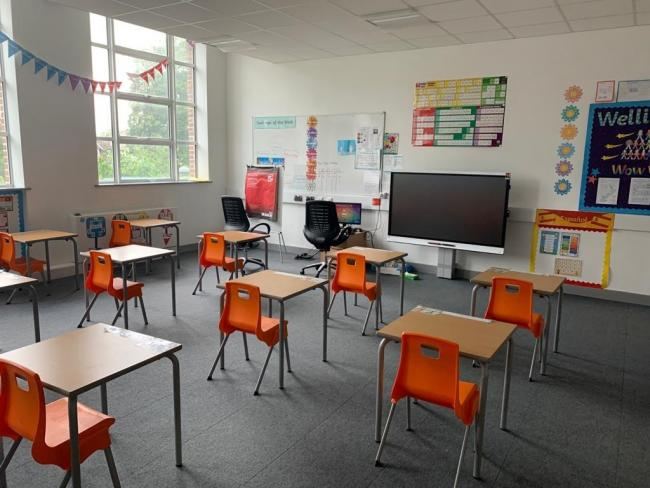 Changes made at Lanchester Community Free School to prepare for pupils to return. Photo: Nathan Louis