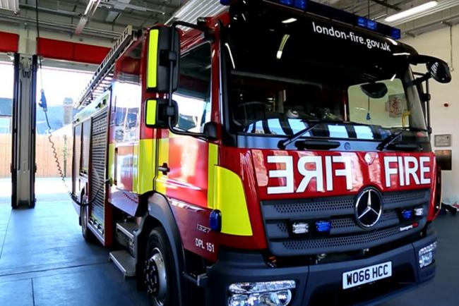 Recycling centre catches fire in Greenford