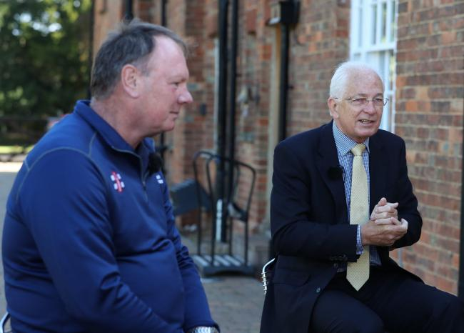Charity fundraiser Lloyd Scott and Lord's Taverners presidentDavid Gower