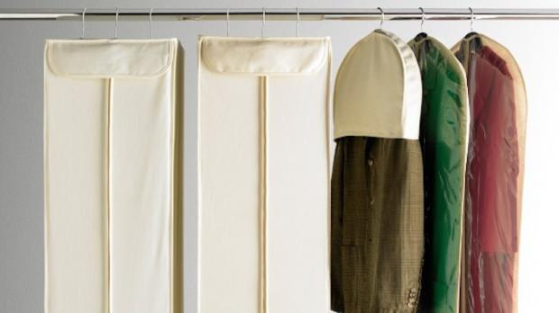 Hillingdon Times: Delicate items should be hung up in garment bags. Credit: The Container Store