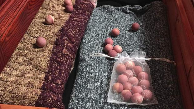 Hillingdon Times: Cedar balls will keep pests away from your clothing. Credit: Cedar Space