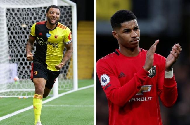 Troy Deeney (left0 has praised Marcus Rashford for his campaign to extend free school meals. Credit: Action Image