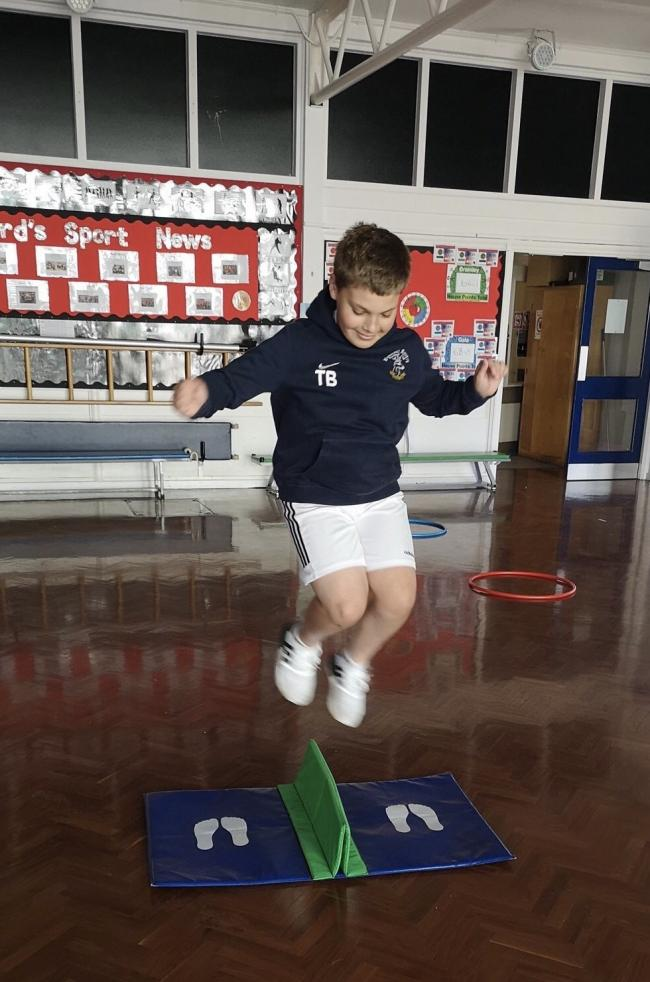 A pupil taking part in one of the partnership's activities