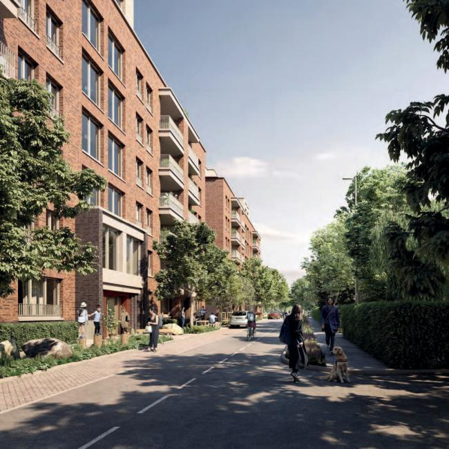 A CGI of the proposed development in Canons Park (Photo: TfL)