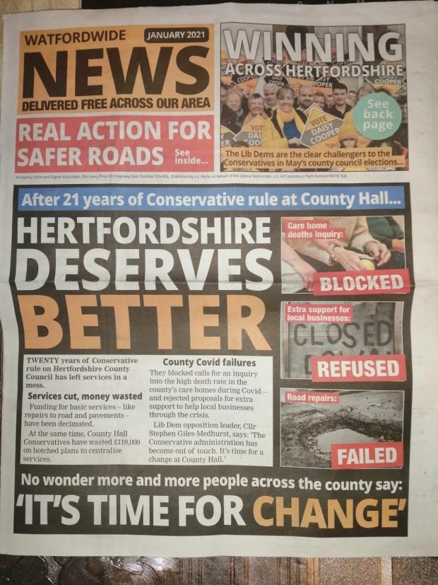 Hillingdon Times: Watford's Lib Dems were slammed for 'breaking' Covid guidelines