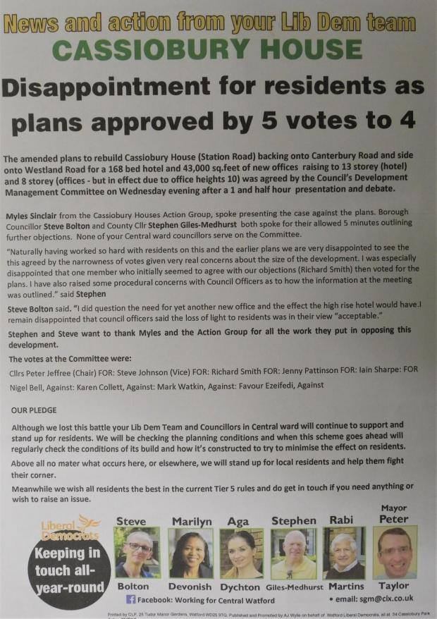 Hillingdon Times: Another leaflet handed out