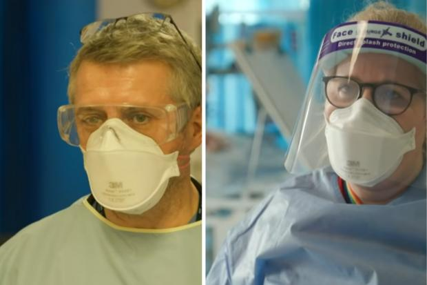 Hillingdon Times: Dr Andy Barlow (left) and Vicky Houghton (right) (photo ITV)