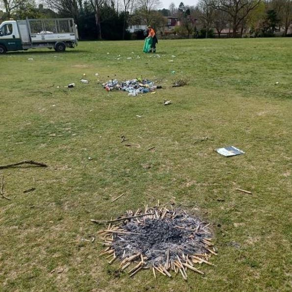 Hillingdon Times: Watford Council shared this picture of rubbish left in Cassiobury Park