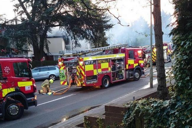 A suspected cannabis factory was found in a home affected by the fire (Photo: Lisa Lorton)