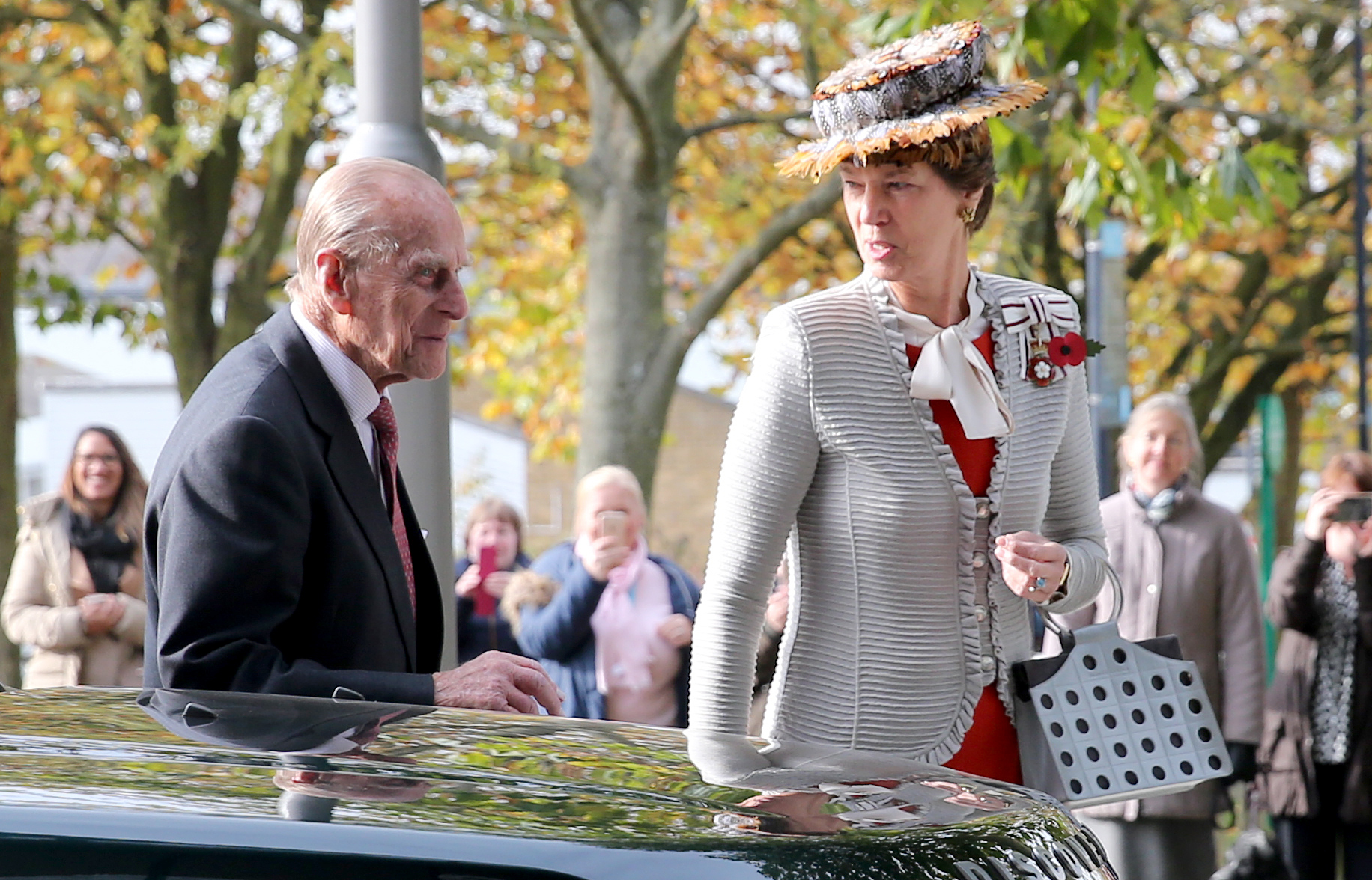 Prince Philips visit to the University of Hertfordshire in 2016