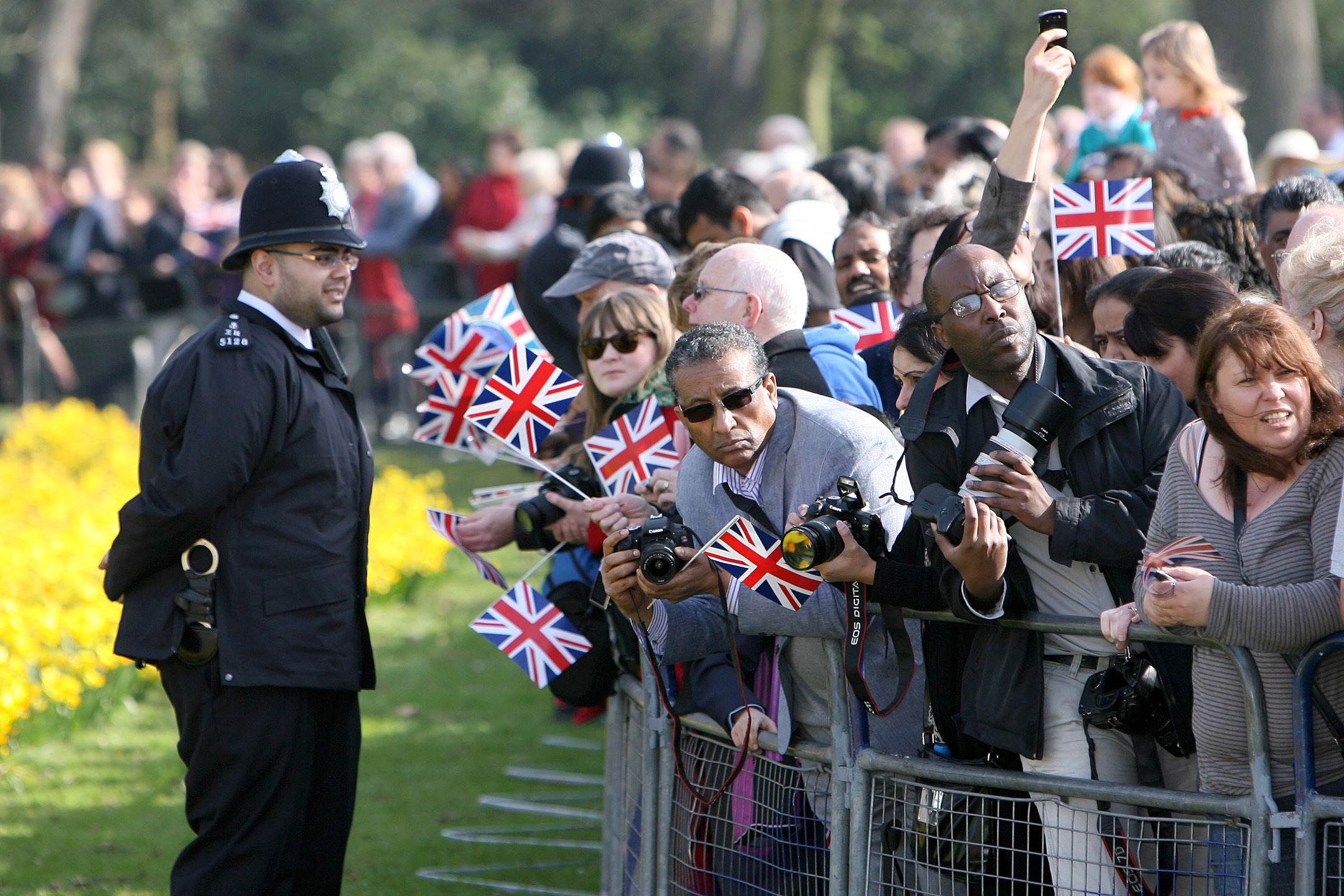 Large crowds attended the royal visit