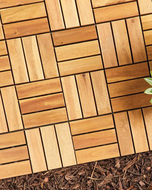 Hillingdon Times: Two Direction Wooden Decking Tiles. (Aldi)