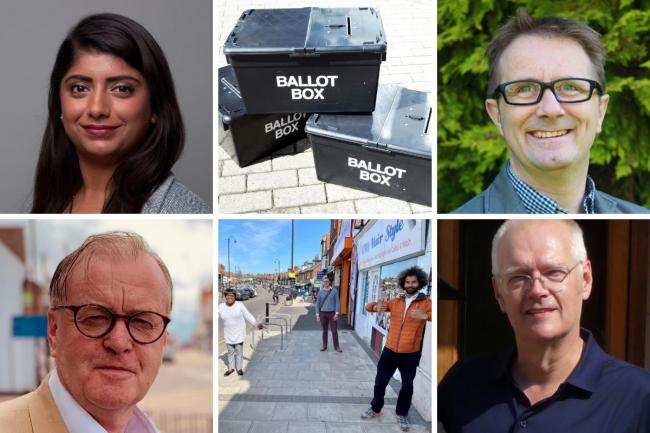 Who are the parties standing in Watford Borough Council elections?