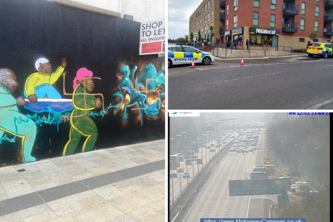 A round-up of police appeals this week (photo of graffiti from Jewish News)