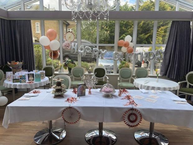 Hillingdon Times: Birthday table display at Chorleywood Beaumont