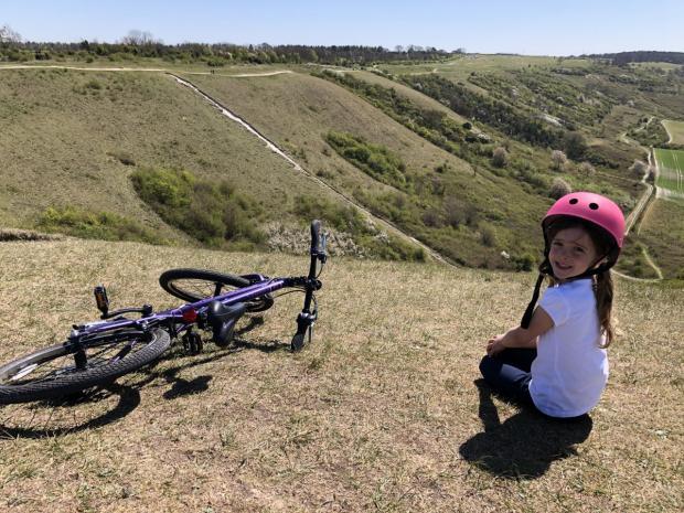 Hillingdon Times: Ava on a bike ride