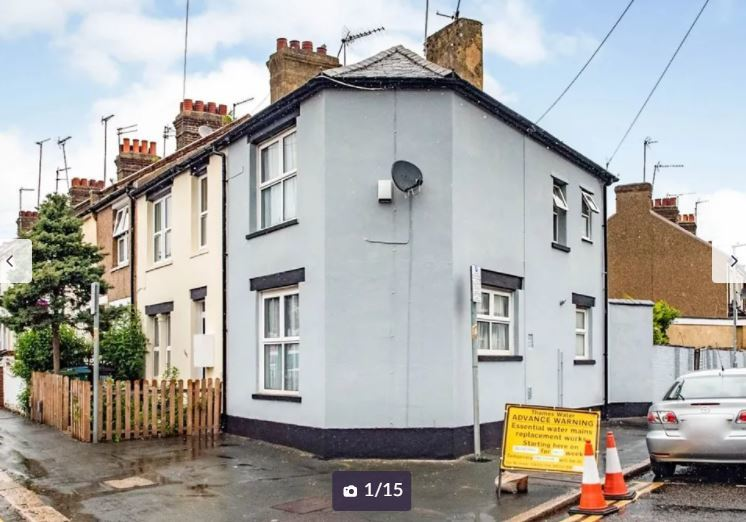 The end of terrace in Liverpool Road for sale. Credit: Zoopla