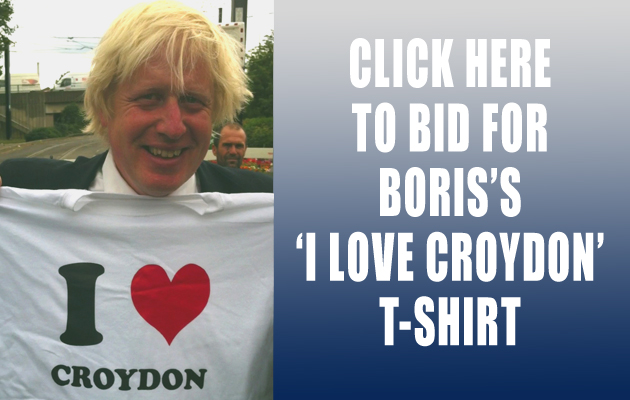 Hillingdon Times: Boris Johnson T-shirt auction