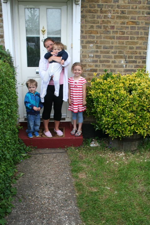 Home at last: Toni Butler and family have somewhere of their own