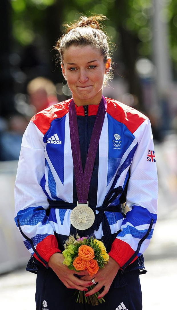 SILVER SERVICE: Lizzie Armistead won a silver medal yesterday, Great Britain's first at the 2012 Olympics