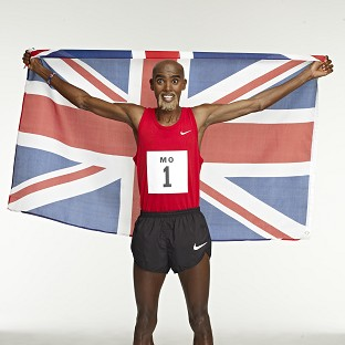 Double Olympic gold medallist Mo Farah wearing a Richard Branson-style beard in the new Virgin Media advertising campaign
