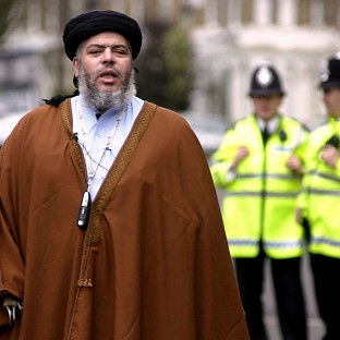 A son of controversial Muslim cleric Abu Hamza has been found guilty of armed robbery