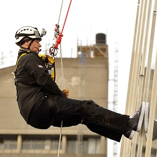 Duke of York abseils down the Shard